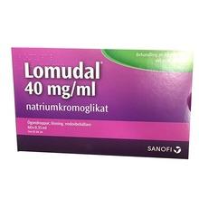 Lomudal - Ögondroppar, lösning i endosbehållare 40 mg/ml Natriumkromoglikat 3 x 20 dos(er)