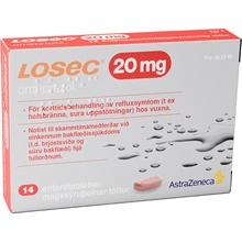 Losec - Enterotablett 20 mg 14 styck