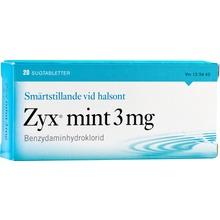 Zyx mint - Sugtablett 3 mg 2 x 10 tablett(er)