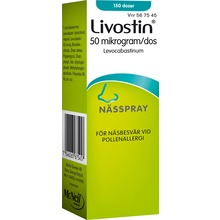 Livostin - Nässpray, suspension 50 mikrogram/dos Levokabastin 150 dos(er)
