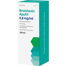 Bromhexin Apofri - Oral lösning 0,8 mg/ml Bromhexin 250 milliliter