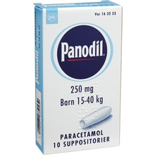 Panodil - Suppositorium 250 mg Paracetamol 10 styck