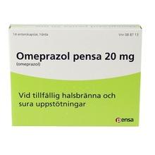 Omeprazol Pensa - Enterokapsel, hård 20 mg Omeprazol 14 kapsel/kapslar
