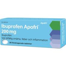Ibuprofen Apofri - Filmdragerad tablett 200 mg Ibuprofen 30 tablett(er)