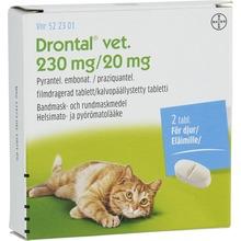 Drontal vet. - Filmdragerad tablett 230 mg/20 mg 2 styck