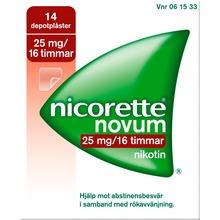 Nicorette Novum - Depotplåster 25 mg/16 timmar 14 styck