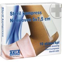 AKLA - KOMPRESS NON-WOV. STER 5X7,5CM 10 st