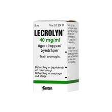 Lecrolyn - Ögondroppar, lösning 40 mg/ml 5 milliliter