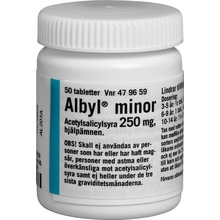 Albyl minor - Tablett 250 mg 50 styck