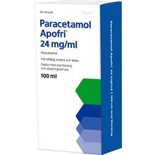 Paracetamol Apofri - Oral lösning 24 mg/ml Paracetamol 100 milliliter