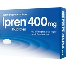 Ipren - Filmdragerad tablett 400 mg Ibuprofen 30 tablett(er)