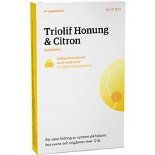 Triolif Honung & Citron - Sugtablett Lidokain + amylmetakresol + diklorbensylalkohol 24 tablett(er)