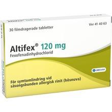 Altifex - Filmdragerad tablett 120 mg Fexofenadin 30 styck
