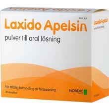 Laxido Apelsin - Pulver till oral lösning Makrogol, kaliumklorid, natriumbikarbonat, natriumklorid 20 dospåsar