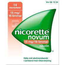 Nicorette Novum - Depotplåster 15 mg/16 timmar 14 styck