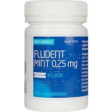 Fludent Mint - Sugtablett 0,25 mg Natriumfluorid 200 styck