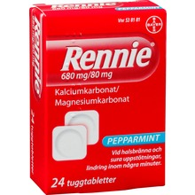 Rennie - Tuggtablett 680 mg/80 mg 24 styck