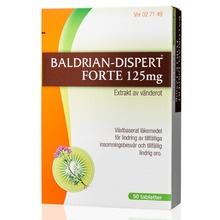 Baldrian-Dispert Forte - Dragerad tablett 125 mg 50 styck