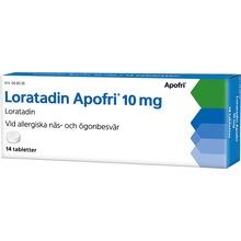 Loratadin Apofri - Tablett 10 mg Loratadin 14 tablett(er)