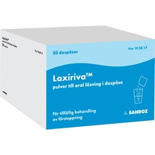 Laxiriva - Pulver till oral lösning i dospåse Makrogol, kaliumklorid, natriumbikarbonat, natriumklorid 50 dospåsar