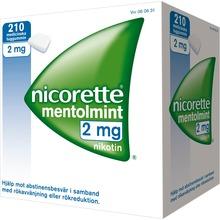 Nicorette Mentolmint - Medicinskt tuggummi 2 mg 210 styck