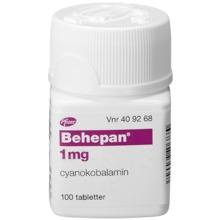 Behepan - Filmdragerad tablett 1 mg Cyanokobalamin 100 styck