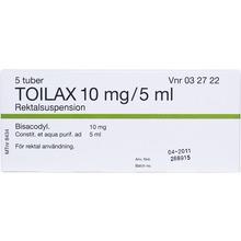 Toilax - Rektalsuspension 10 mg/5 ml 5 x 5 milliliter