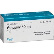 Vanquin 50 mg mot springmask - Dragerad tablett. 32 st