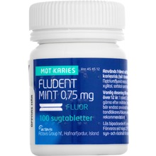 Fludent Mint - Sugtablett 0,75 mg Natriumfluorid 100 styck