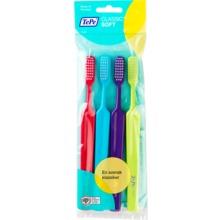 TePe Classic mjuk tandborste - Rak tandborste med rektangulärt borsthuvud. 4 st