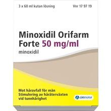 Minoxidil Orifarm Forte - Kutan lösning 50 mg/ml Minoxidil 3 x 60 milliliter
