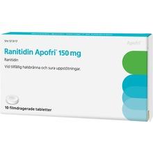 Ranitidin Apofri - Filmdragerad tablett 150 mg 10 tablett(er)