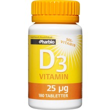 Pharbio - D3-vitamin 180 st
