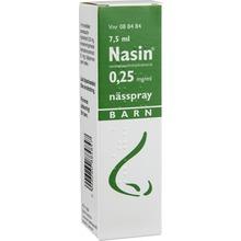 Nasin - Nässpray, lösning 0,25 mg/ml 7,5 milliliter