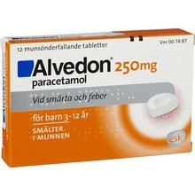 Alvedon - Munsönderfallande tablett 250 mg 12 styck