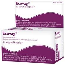 Ecovag - Vaginalkapsel, hård 10 styck