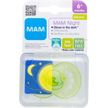 MAM - Original Night 6m+ silk teat 1 st