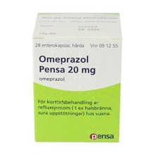 Omeprazol Pensa - Enterokapsel, hård 20 mg Omeprazol 28 kapsel/kapslar