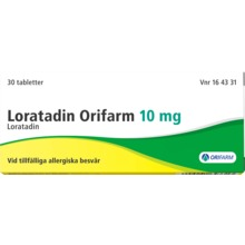 Loratadin Orifarm - Tablett 10 mg Loratadin 30 tablett(er)