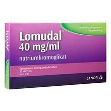 Lomudal - Ögondroppar, lösning i endosbehållare 40 mg/ml Natriumkromoglikat 1 x 20 dos(er)