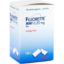 Fluorette Mint - Medicinskt tuggummi 0,25 mg 108 styck