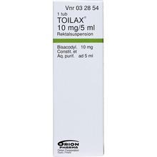 Toilax - Rektalsuspension 10 mg/5 ml 5 milliliter