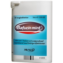 Bafucin Mint - Sugtablett 50 styck
