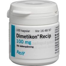 Dimetikon Meda - Kapsel, mjuk 100 mg Dimetikon 100 styck