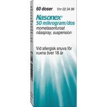 Nässpray Kortison - Nässpray, suspension 50 mikrogram/dos Mometason 60 dos(er)