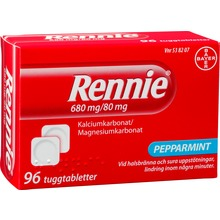 Rennie - Tuggtablett 680 mg/80 mg 96 styck