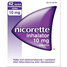 Nicorette Inhalator - Inhalationsånga, vätska 10 mg 42 styck