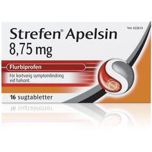 Strefen Apelsin - Sugtablett 8,75 mg Flurbiprofen 1 x 16 tablett(er)