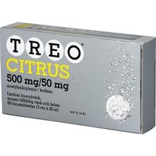 Treo citrus - Brustablett 500 mg/50 mg Acetylsalicylsyra + koffein 3 x 20 styck