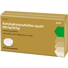 Acetylsalicylsyra/Koffein Apofri - Brustablett 500 mg/50 mg Acetylsalicylsyra + koffein 50 tablett(er)